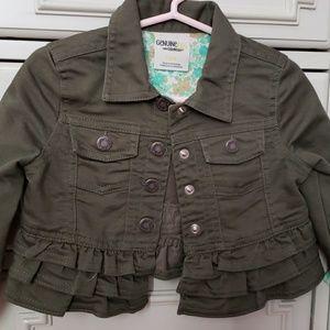 Hunter green denim jacket